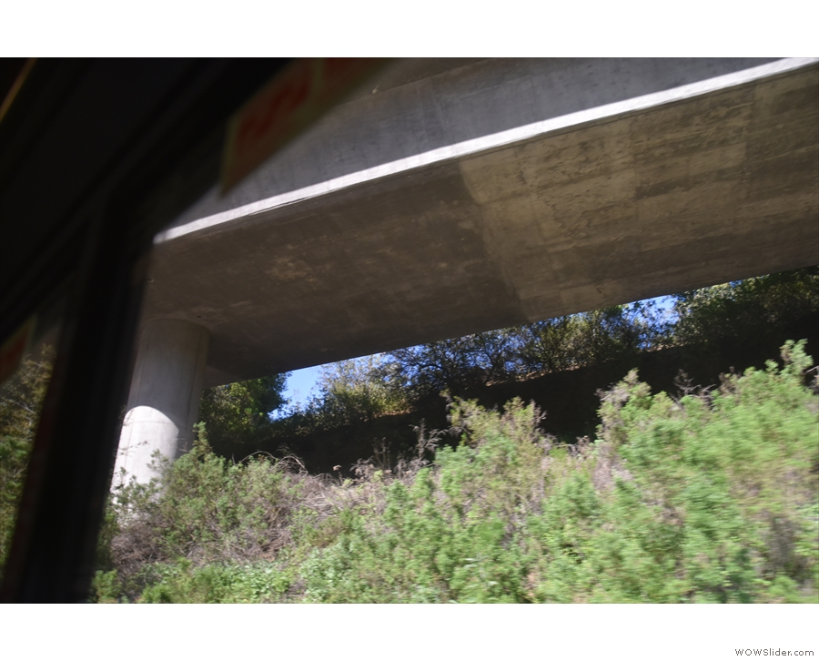 ... US 101 passes overhead and we're at the highest point of our climb.