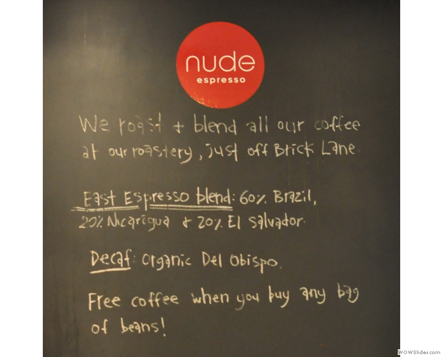 Nude Espresso: cakes baked on the premises in Soho Square.