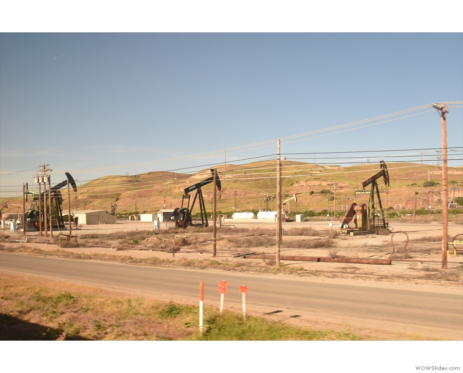 This is the San Ardo Oil Field, the last of the major Californian oil fields, opened in 1947...