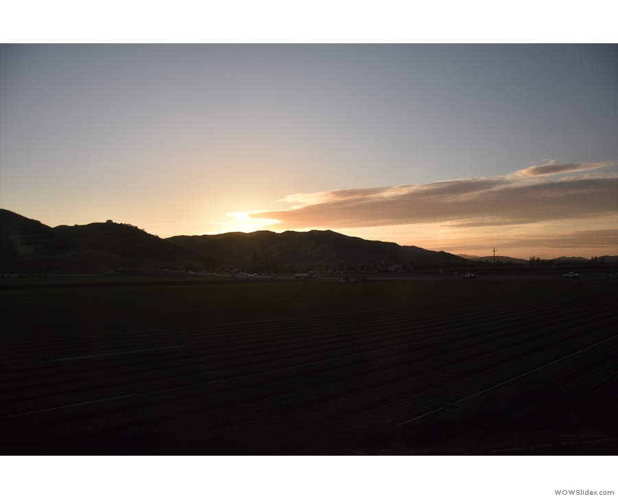 ... which is where I'll leave you, the sun disappearing behind the hills.