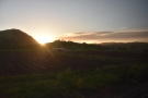 ... by which time we were approaching Gilroy, the sun setting behind the hills to the west.