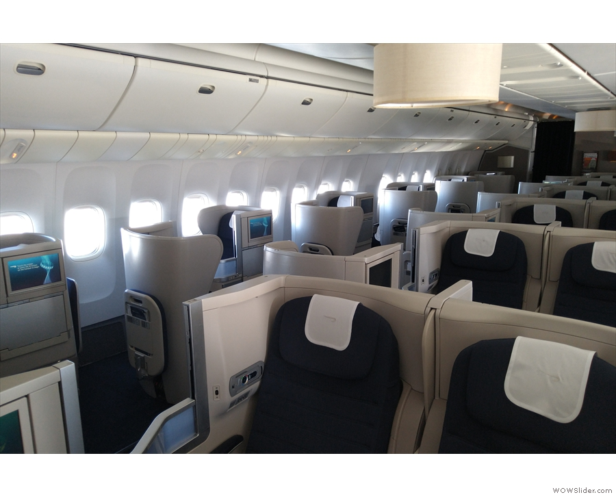 Each row has a set of two seats by the windows on either side...