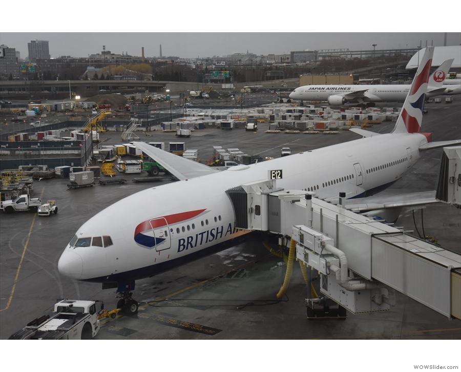 My ride back to London Heathrow, a British Airways 777-200.