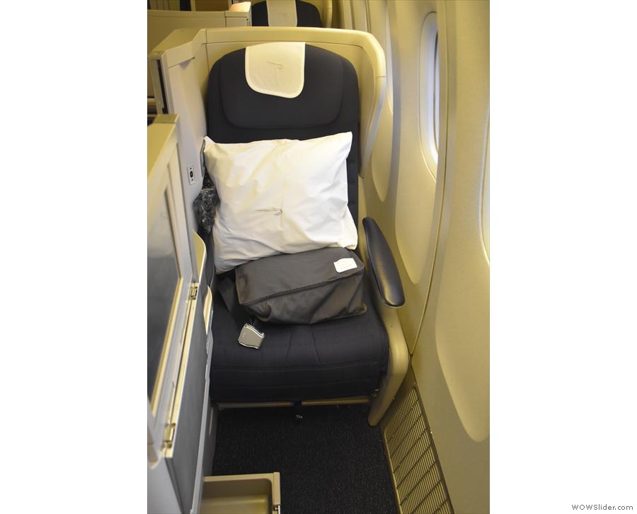 It's a standard Club World window seat. With a window!