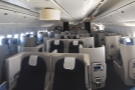 This is the whole Club World cabin, seen from the back (all six rows of it).