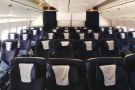 Here's the whole cabin (all five rows of it) with four seats in a line across the middle...