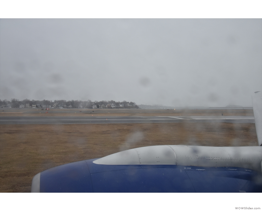 That, by the way, is the runway we'll be taking off on.