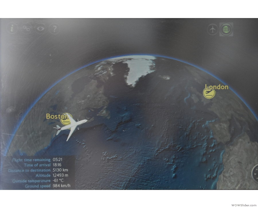 ... which at least means that we are now flying in the direction of London!