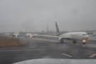 This is the queue of planes behind us as we turn at the top of the runway.