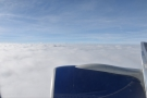 And finally, at 5,000 m, ten minutes after taking off, we break through the clouds.