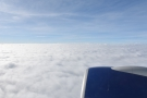 I hope flying over the tops of clouds never loses its magic for me.