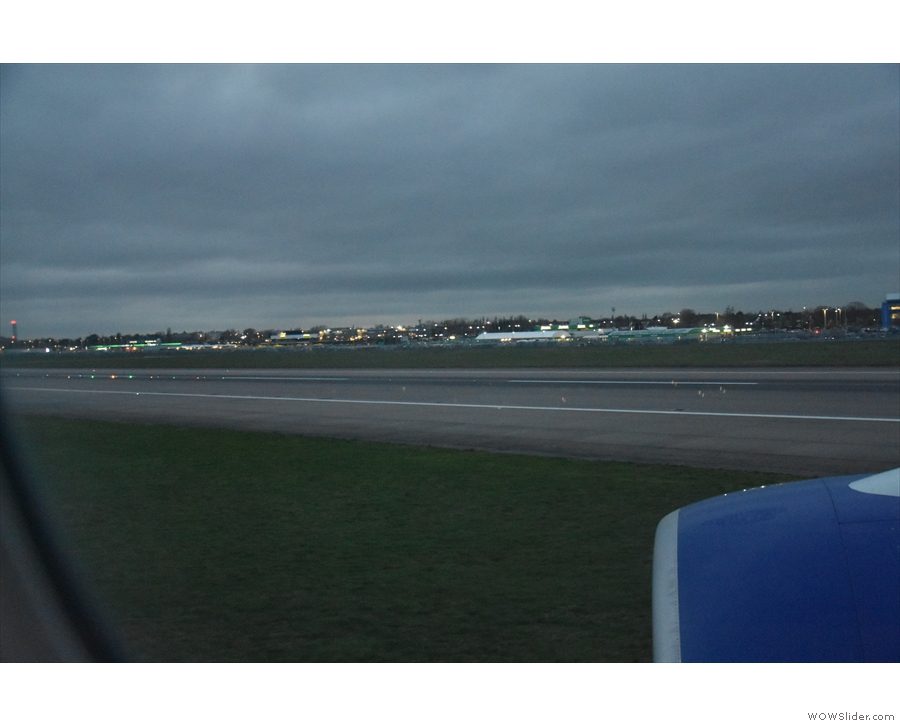 And we're down, landing on the northern runway.