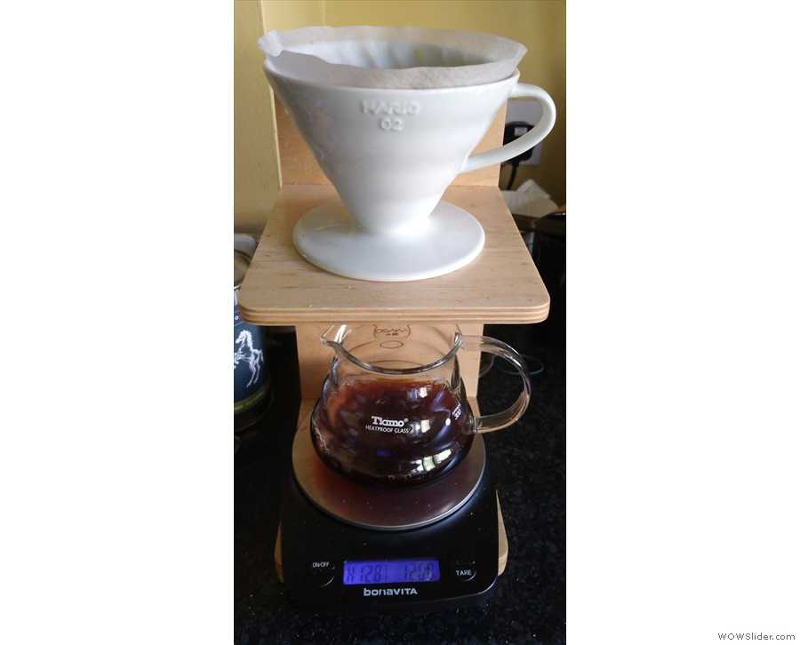 I find scales really come in useful for pour-over. Here's a V60 from yesterday afternoon...