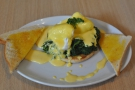 My breakfast of choice, Eggs Florentine, at Newcastle's Quay Ingredient