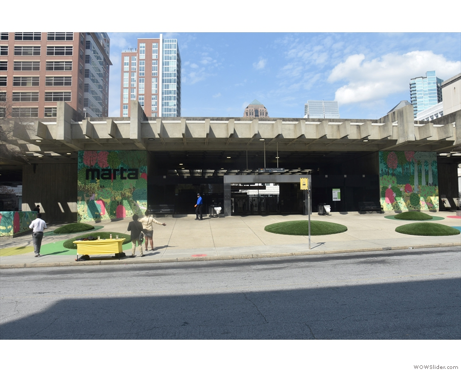 And this, by the way, is what's across the road: the Midtown combined MARTA/bus station!