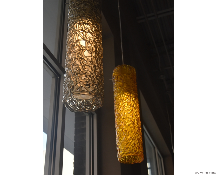 ... and more fancy ones. These hang in the windows along the front.