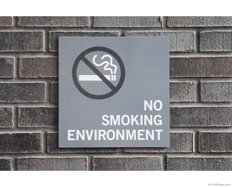 Good news for me. Not so good for the smokers.