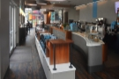 ... right-hand end of the coffee bar, then funnels you back to the counter, where you order.