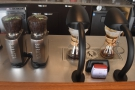Amanda and I ordered the two single-origin pour-overs (note each has its own grinder).