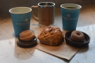 ... and my Global WAKEcup for Amanda. The lids also made good saucers...