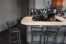 ... starting with this U-shaped extension to the counter, great for barista watching.
