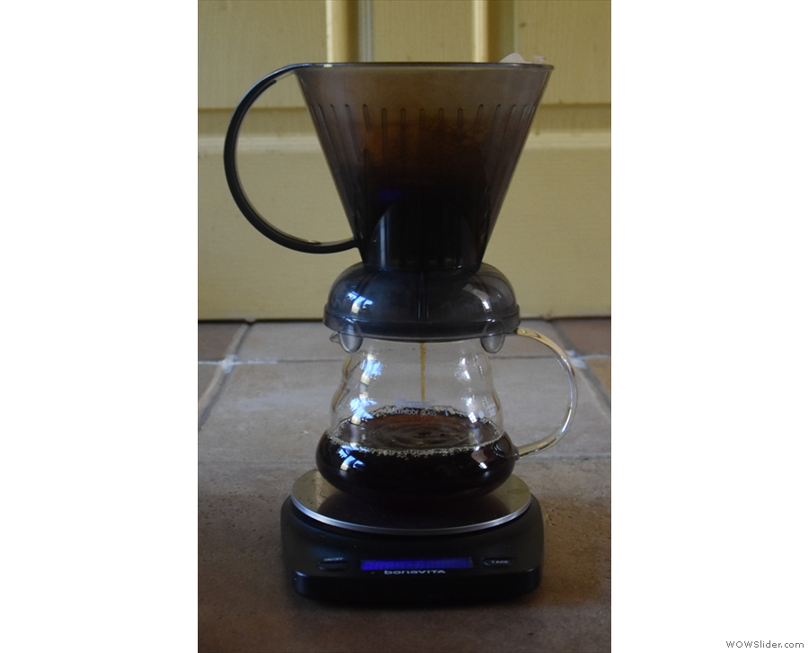 ... my the Clever Dripper (in a posed shot since, again, I'm too busy making coffee!).