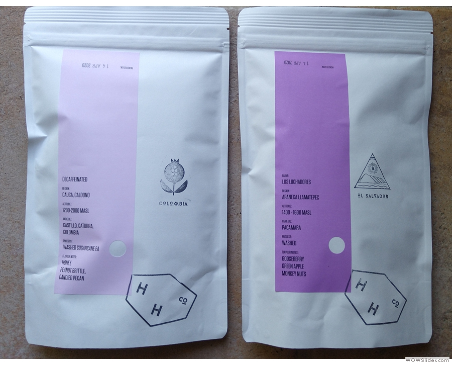 An example of some different packaging, this time from Hundred House Coffee.