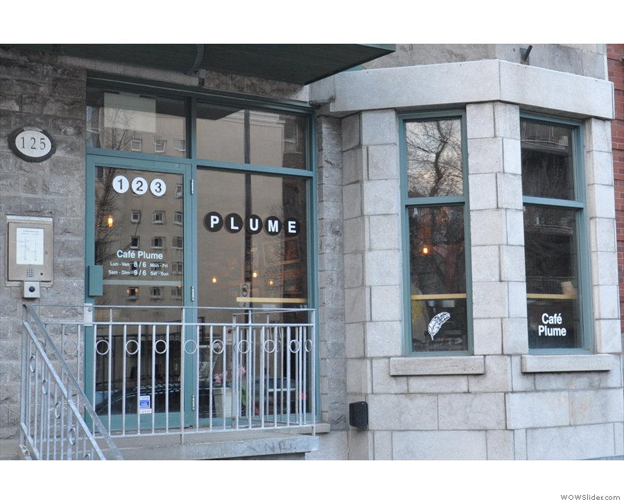 Cafe Plume, on Montreal's Avenue Mont-Royal: first cheese-toastie of the year