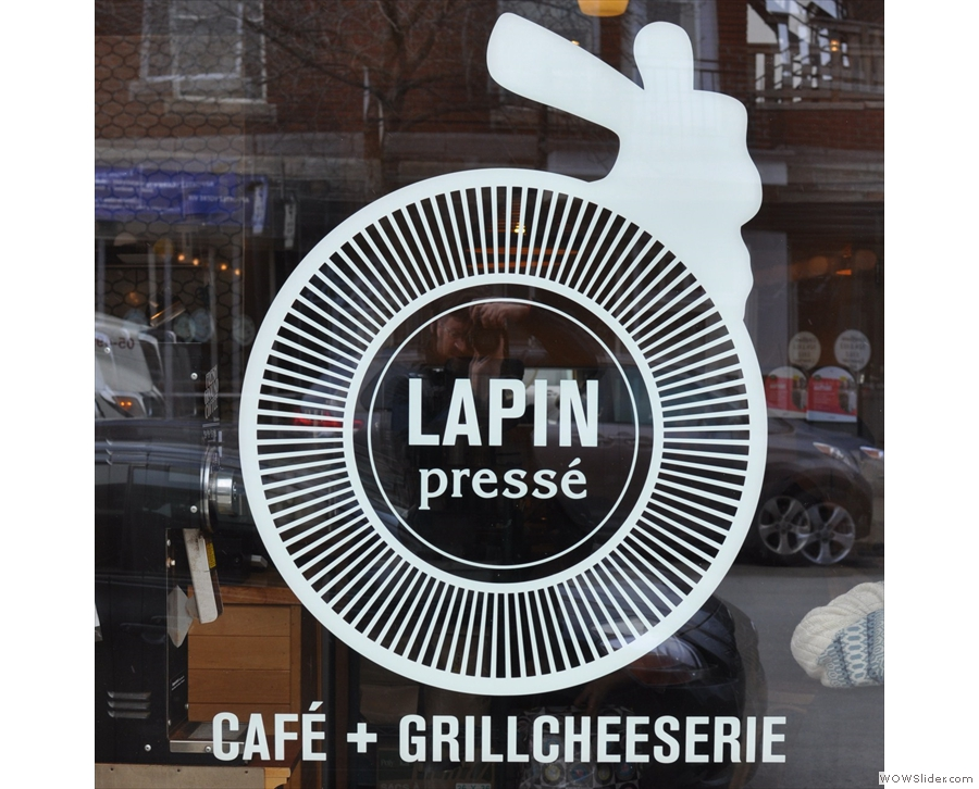 Le Lapin Presse, also from Montreal, specialising in coffee and cheese toasties!