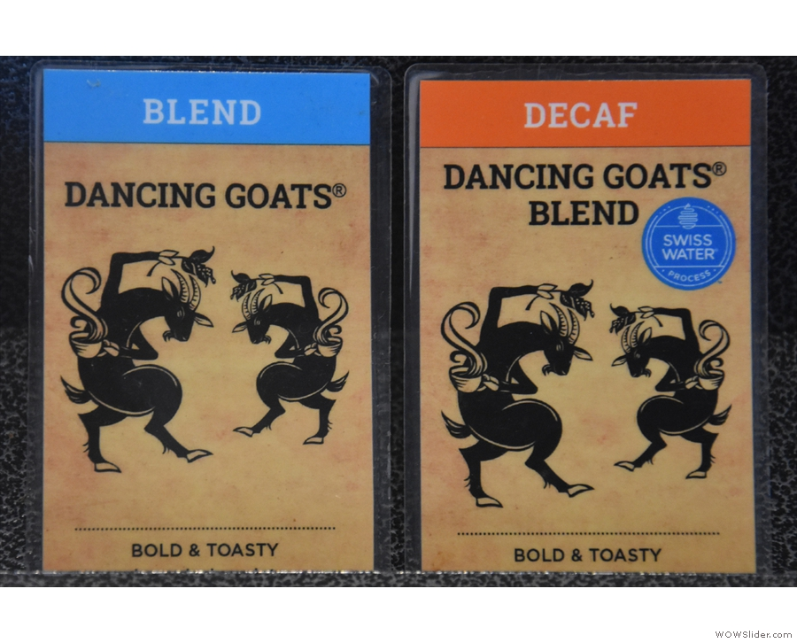 However, the majority of coffee is sold in blends, like these from Dancing Goats.