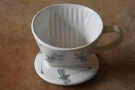 Next is the ridge-bottomed filter. This is a handmade ceramic one I got from Vietnam.