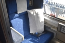 Our compartment on the California Zephyr. That's my seat, facing backwards...