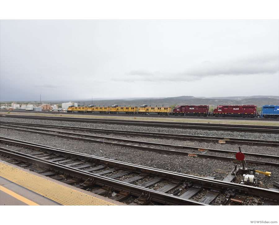 Grand Junction, is, in fairness, a grand junction, with plenty of freight traffic.