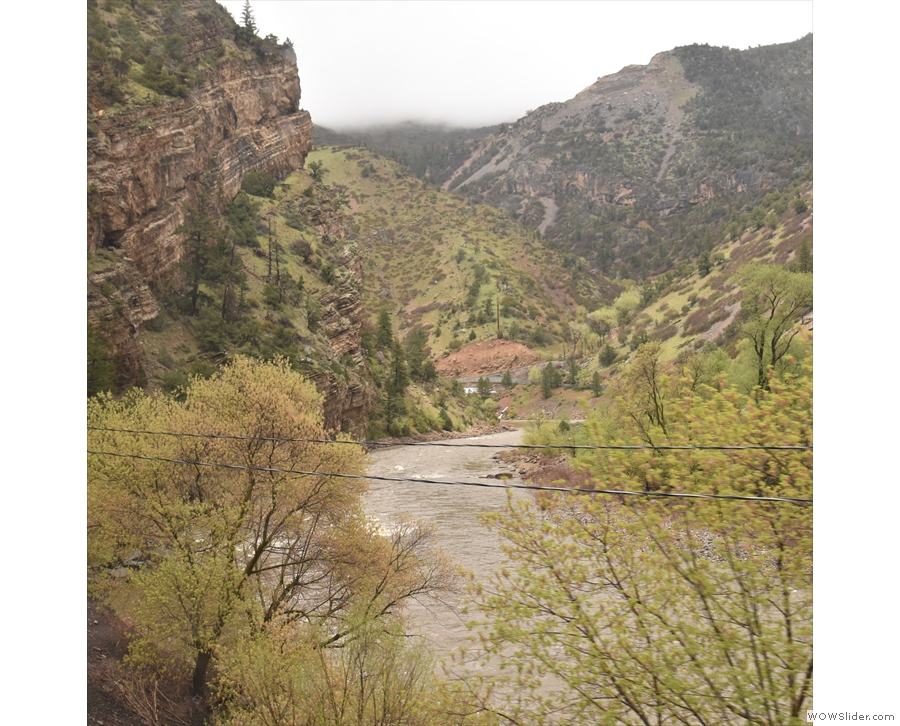 And this is where we're going: following the Colorado River through Glenwood Canyon.