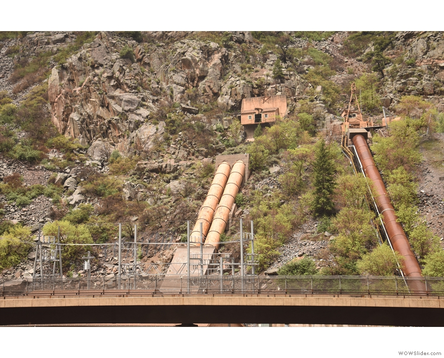 This is the Shoshone Hydroelectric Facility facility, 11 km east of Glenwood Springs.