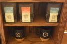 ... as well as retail bags of coffee, which are from nearby roaster, Consciouos Coffees.