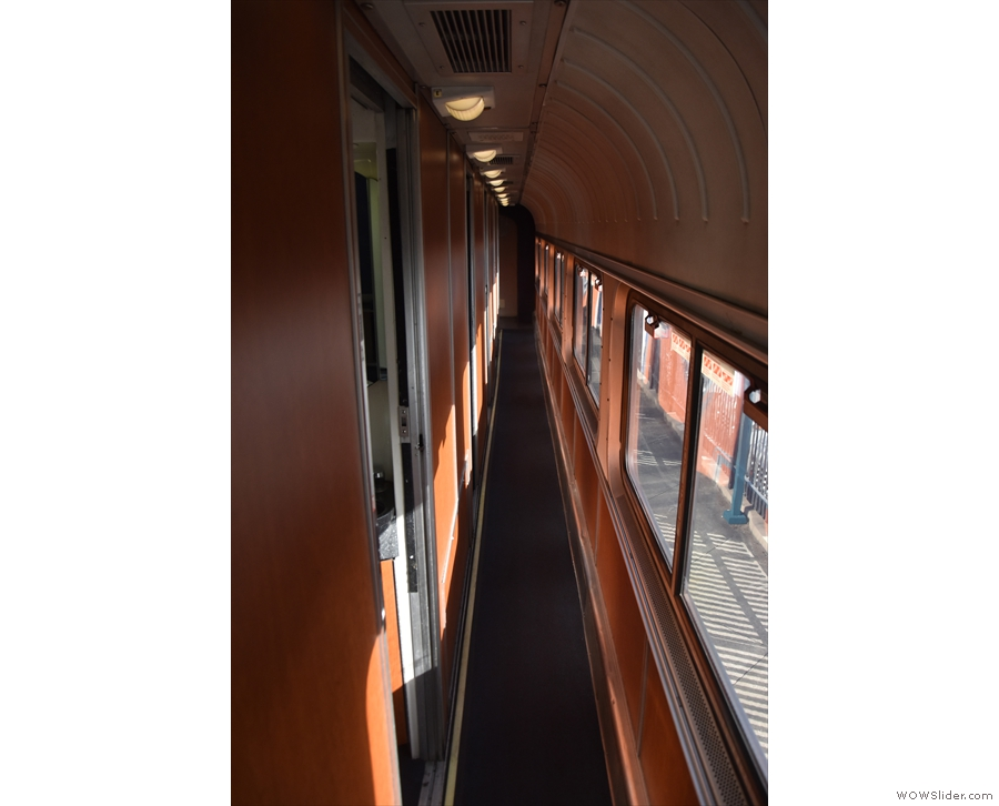 Rooms A to E (bigger than ours) are this way (heading towards the front of the train)...