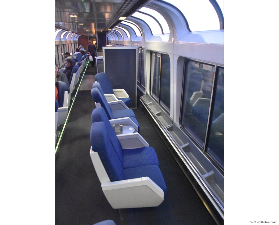 ... the observation deck on the top of the lounge car.