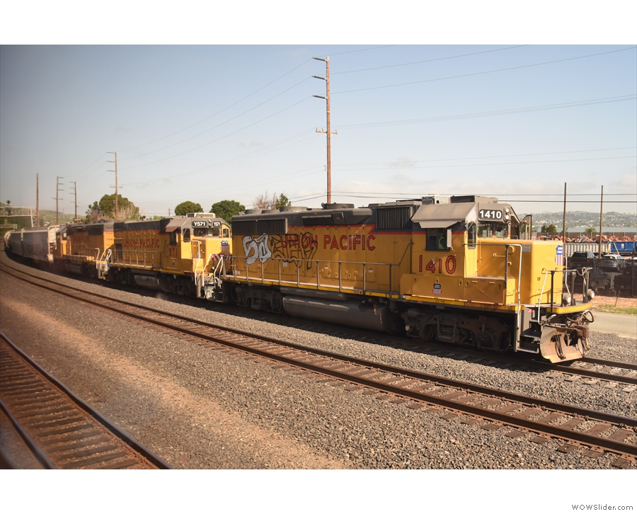 Our first freight train!