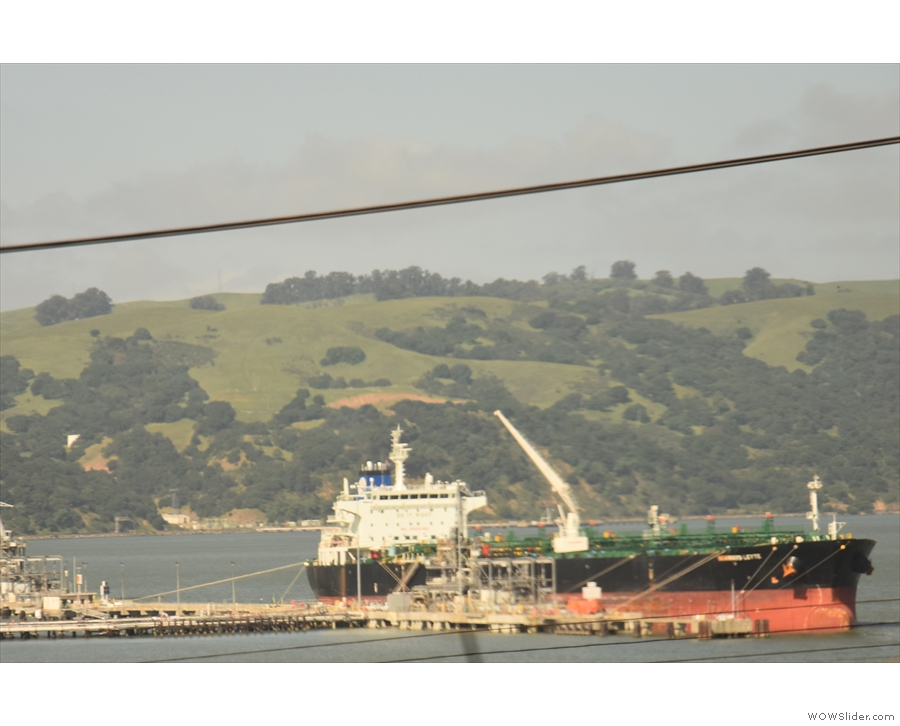 ... with some pretty large ships tied up at various piers.