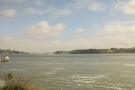 We're now running along the southern shore of the Carquinez Strait.