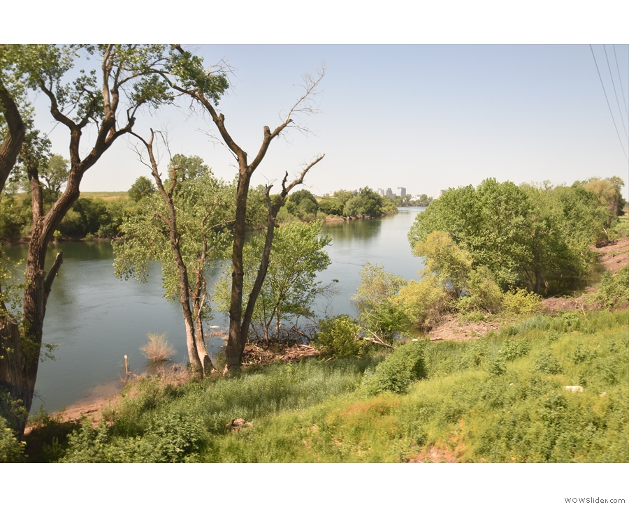 ... while this is the American River.