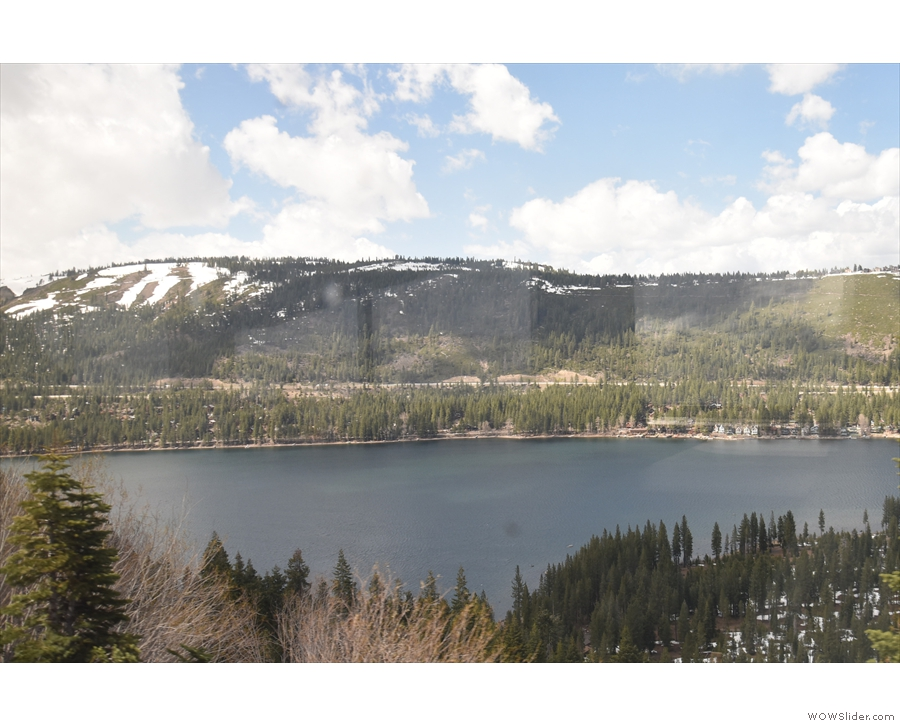 We've got to drop down to the level of Donner Lake, 300 m below us...