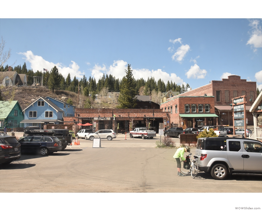... and into the town of Truckee...