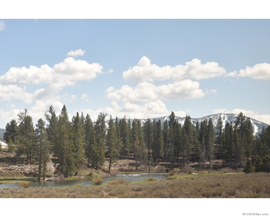 Before long, we're back alongside the Truckee River...
