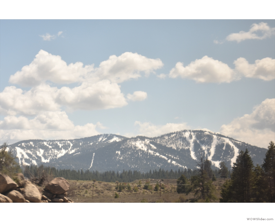 I spent most of my time facing backwards, so this is the view of the mountains we've left.