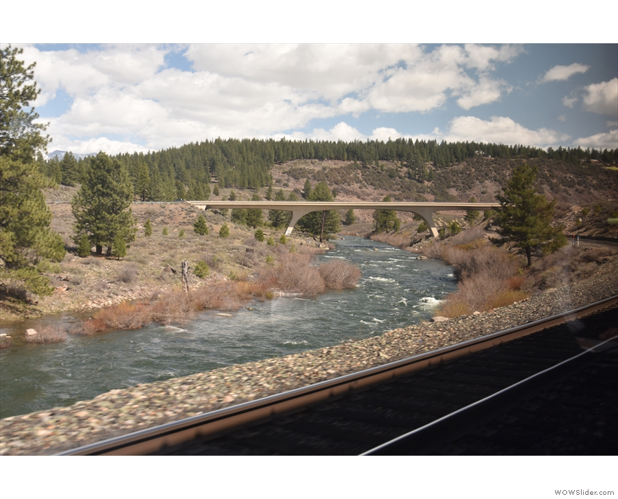 ... closely follow the river, the freeway takes a more direct route, involving lots of bridges.