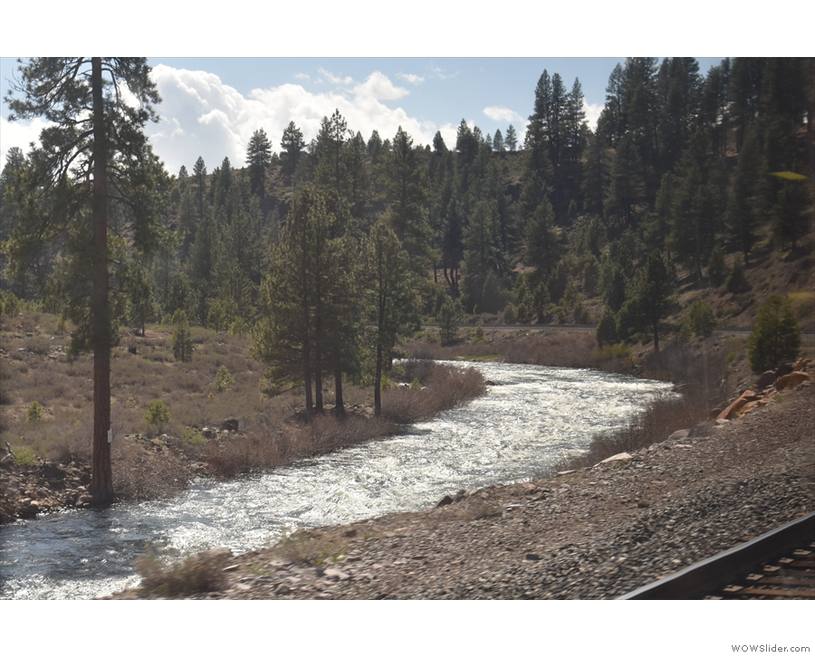 I love the way that the tracks follow the curves of the river...