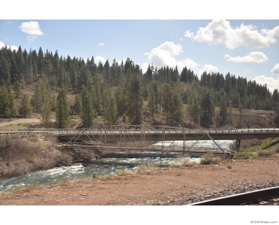 Interesting pair of bridges. The larger one carries a local road up to a nearby...