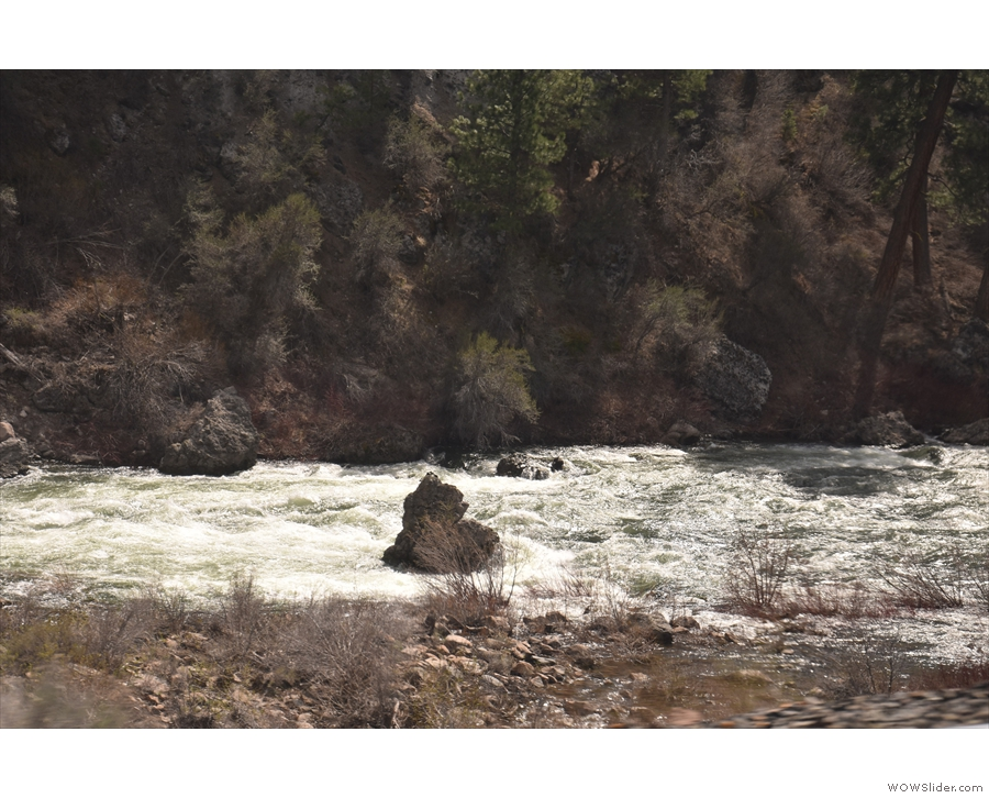 Particularly not when you have rocks like this in the middle of the river!